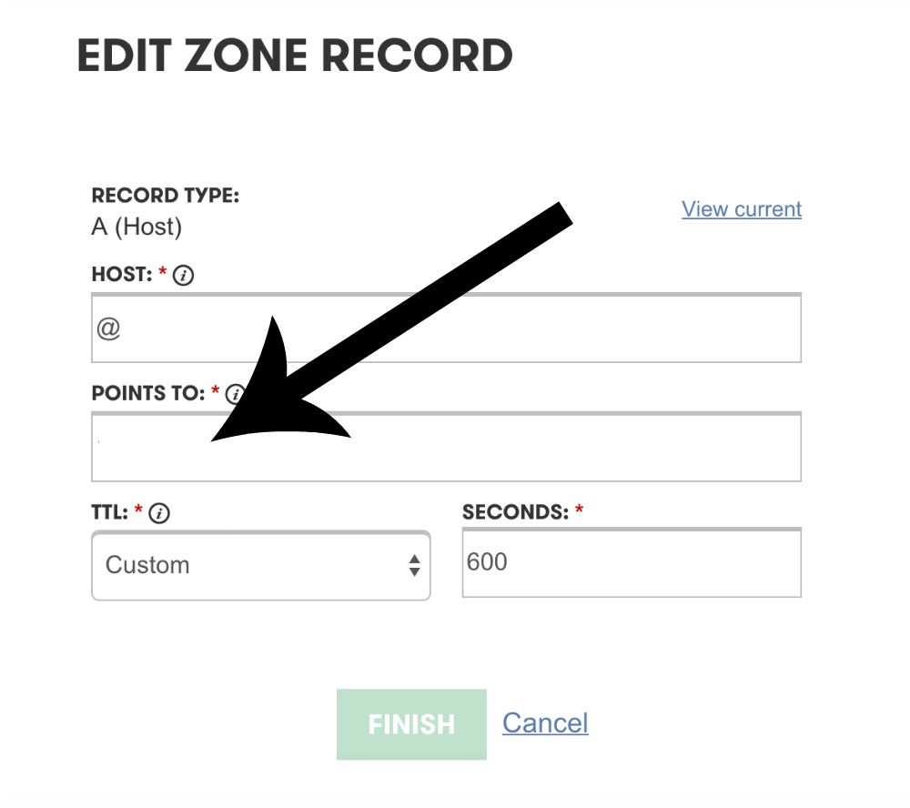 Edit Zone Record