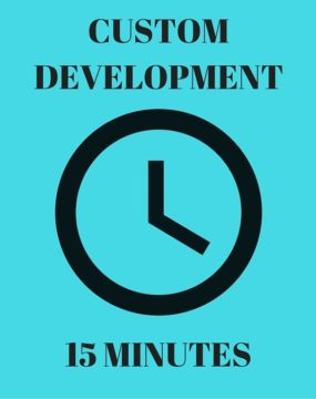15 Minutes Custom Development
