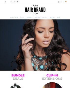 Hair extension websites start a hair business with dropshipping clean hair theme website urmus Images