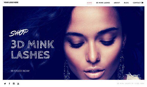 3D Mink Lash Website