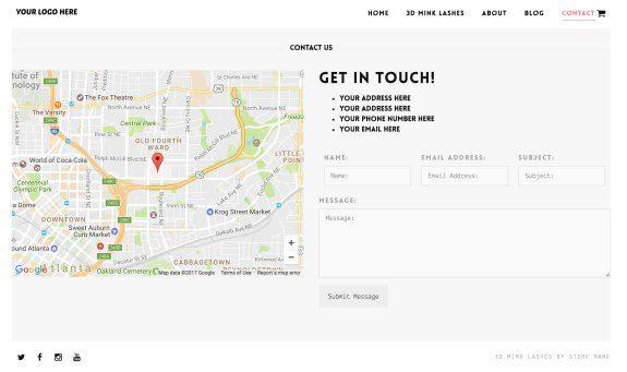 3D Mink Lash Website Contact