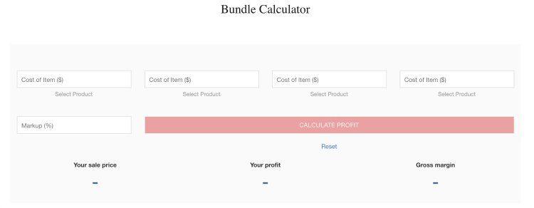 bundle calculator