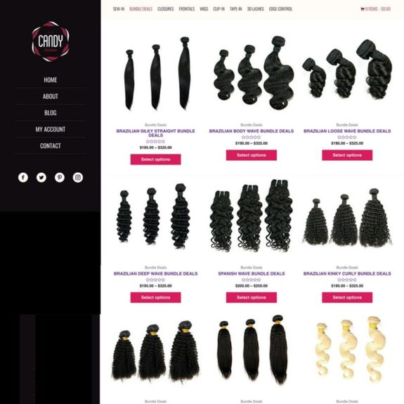 Hair Brand Category Page