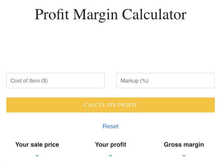 profit margin calculator