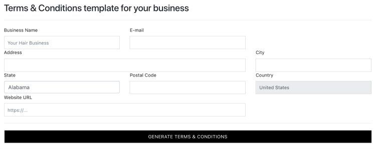 terms and conditions tools
