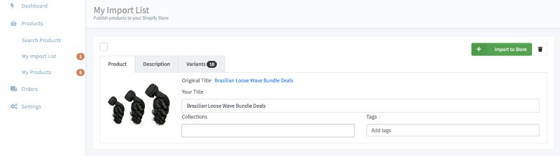 loose wave import list
