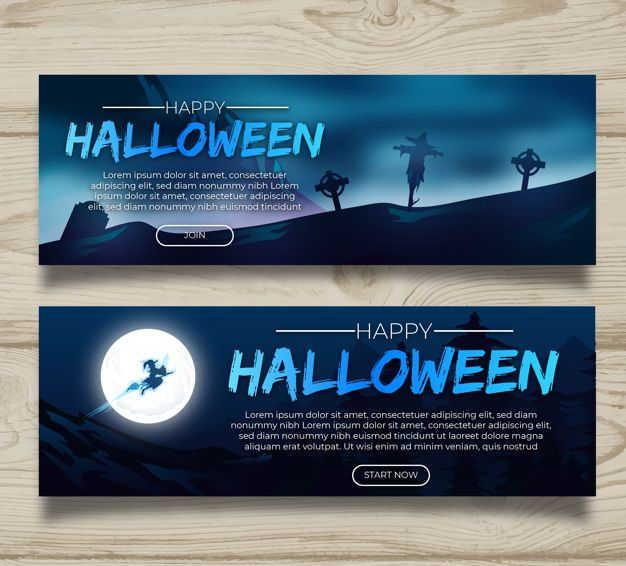 Halloween website banner