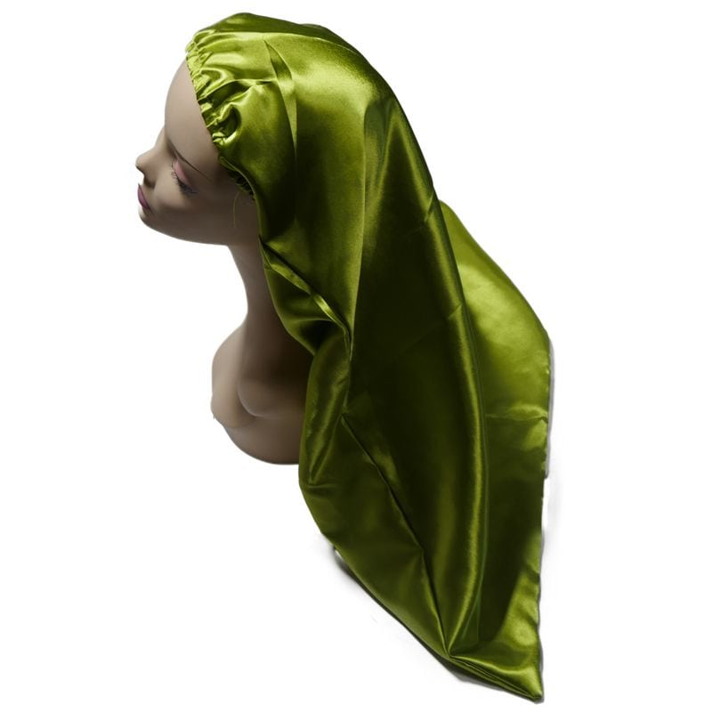 Long Lime Green Bonnet