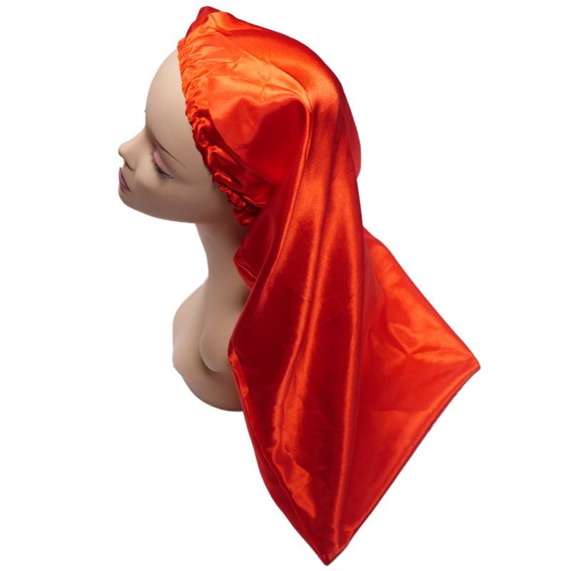 Ruby Red Long Silk Bonnet