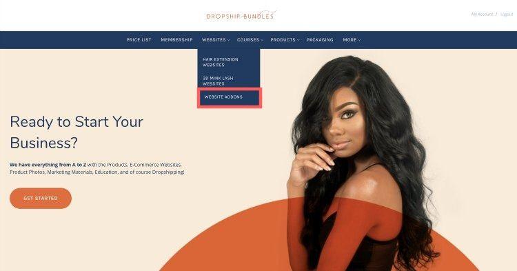 website add on