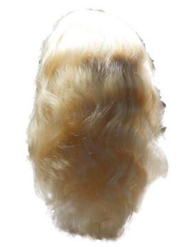 blonde wig back